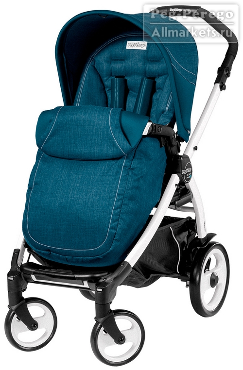ПРОГУЛОЧНАЯ КОЛЯСКА PEG PEREGO BOOK PLUS POP-UP COMPLETO SAXONY BLUE