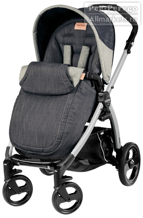 ПРОГУЛОЧНАЯ КОЛЯСКА PEG PEREGO BOOK PLUS POP-UP COMPLETO DENIM