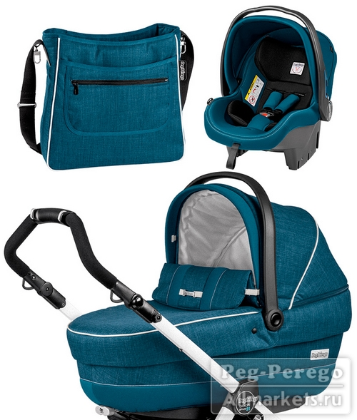 КОМПЛЕКТ PEG PEREGO SET XL 2 IN 1 SAXONY BLUE
