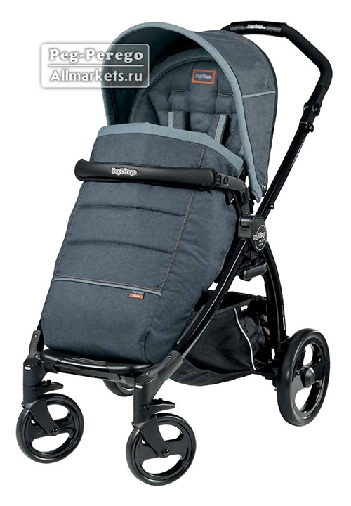 ПРОГУЛОЧНАЯ КОЛЯСКА PEG PEREGO BOOK PLUS POP-UP COMPLETO BLUE DENIM