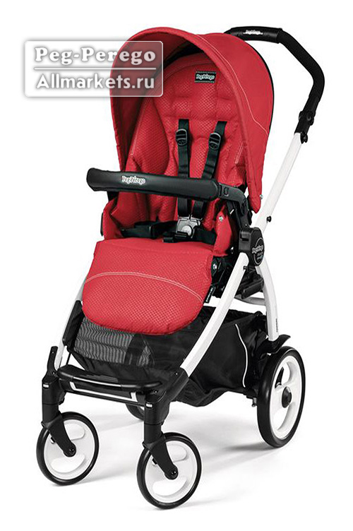 ПРОГУЛОЧНАЯ КОЛЯСКА PEG PEREGO BOOK PLUS POP-UP SPORTIVO MOD RED