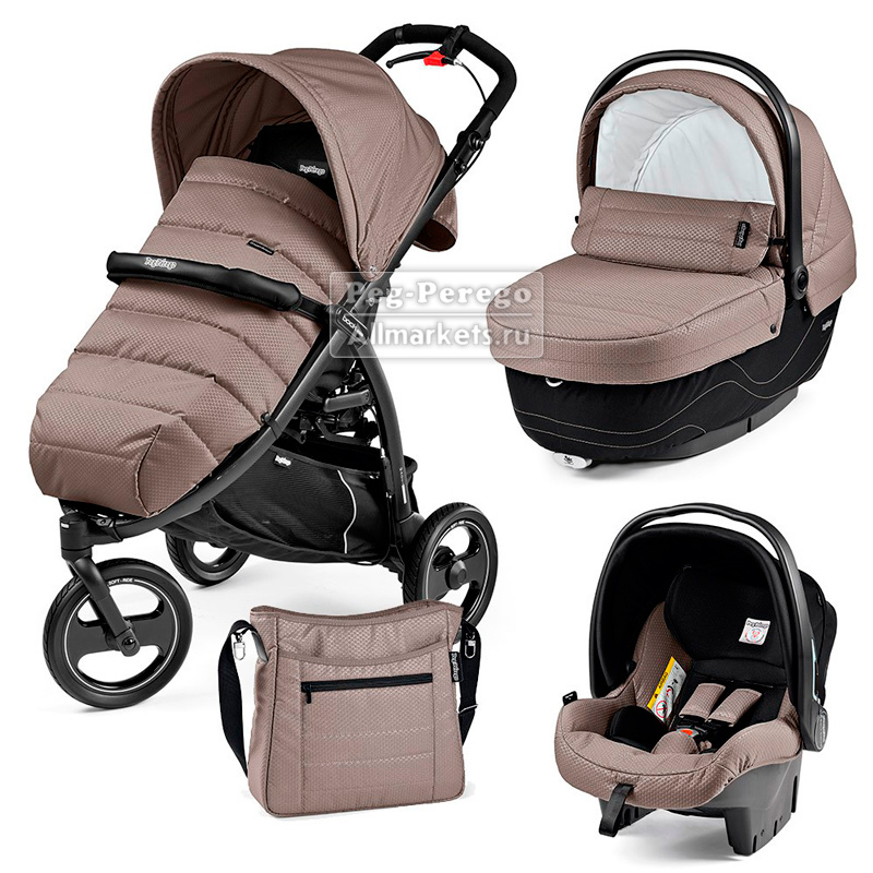 КОЛЯСКА PEG PEREGO MODULAR BOOK CROSS 3 В 1 BLOOM BEIGE