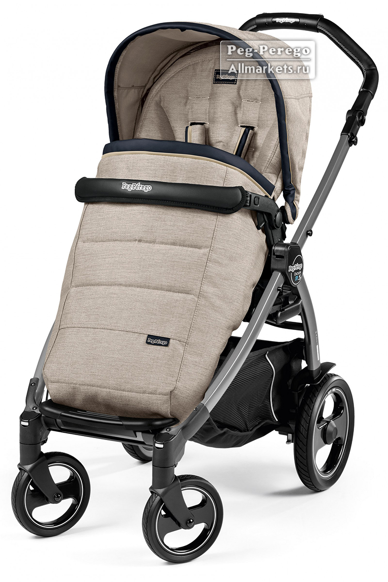 ПРОГУЛОЧНАЯ КОЛЯСКА PEG PEREGO BOOK PLUS POP-UP COMPLETO LUXE BEIGE