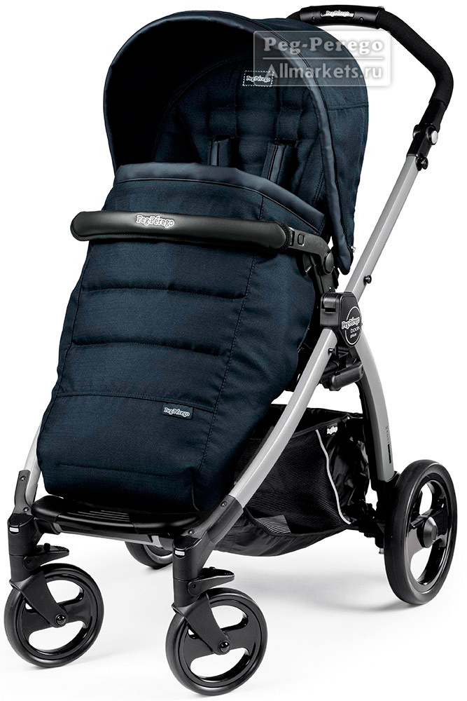 ПРОГУЛОЧНАЯ КОЛЯСКА PEG PEREGO BOOK PLUS POP-UP COMPLETO LUXE BLUE NIGHT