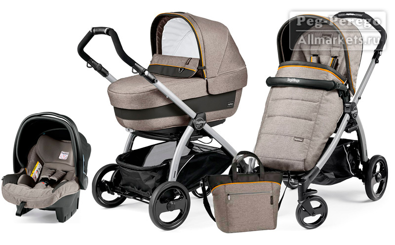 КОЛЯСКА PEG PEREGO MODULAR BOOK ELITE 3 В 1 LUXE GREY