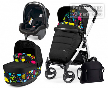 КОЛЯСКА PEG PEREGO MODULAR BOOK PLUS POP UP 3 В 1 MANRI