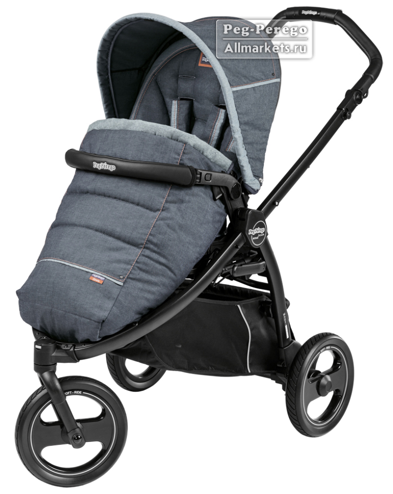 ПРОГУЛОЧНАЯ КОЛЯСКА PEG PEREGO BOOK SCOUT POP-UP BLUE DENIM