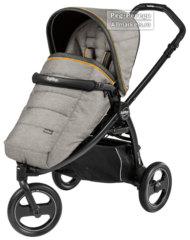 ПРОГУЛОЧНАЯ КОЛЯСКА PEG PEREGO BOOK SCOUT POP-UP LUXE GREY