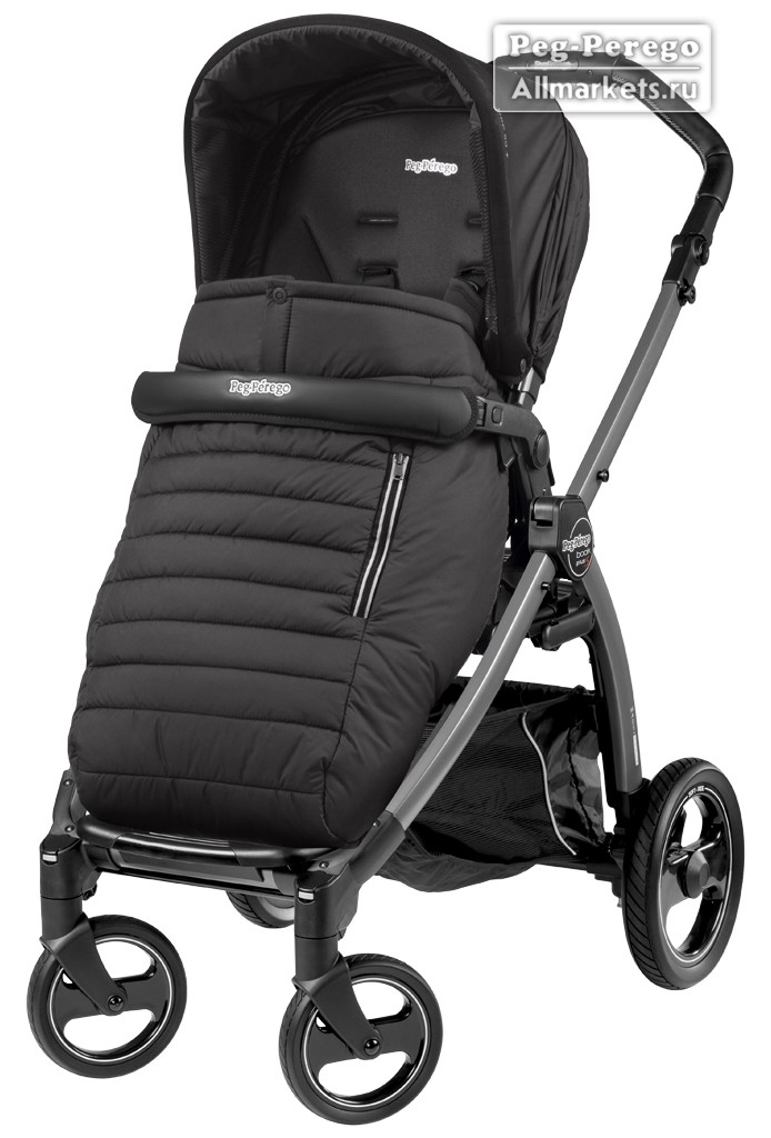 ПРОГУЛОЧНАЯ КОЛЯСКА PEG PEREGO BOOK PLUS POP-UP COMPLETO BREEZE NOIR