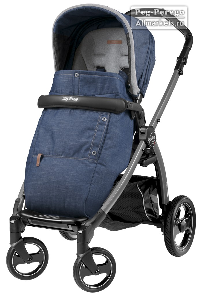 ПРОГУЛОЧНАЯ КОЛЯСКА PEG PEREGO BOOK PLUS POP-UP COMPLETO URBAN DENIM