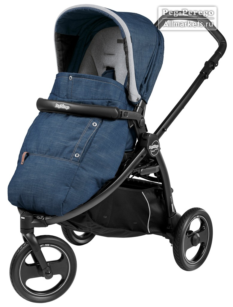 ПРОГУЛОЧНАЯ КОЛЯСКА PEG PEREGO BOOK SCOUT POP-UP URBAN DENIM