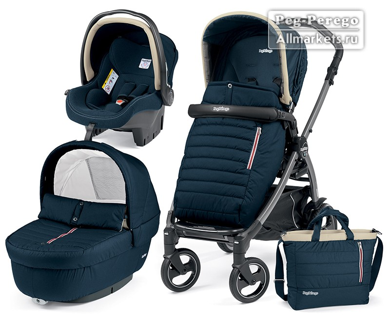 КОЛЯСКА PEG PEREGO MODULAR BOOK ELITE 3 В 1 BREEZE BLUE