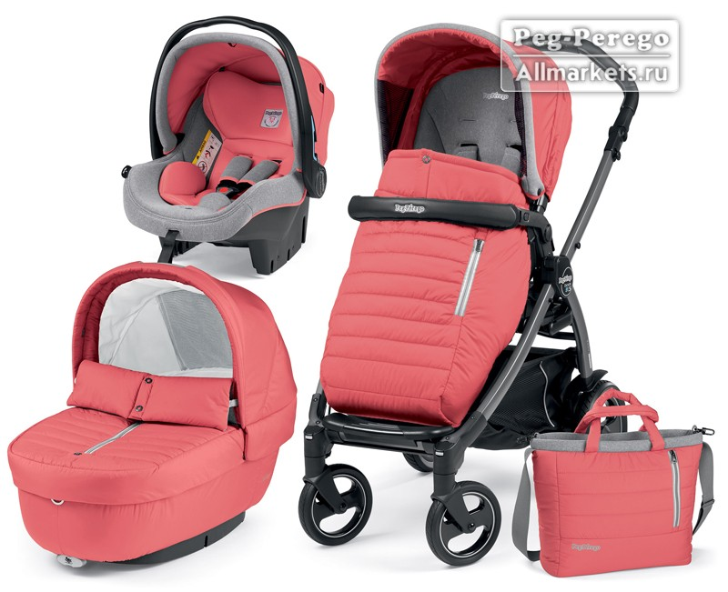 КОЛЯСКА PEG PEREGO MODULAR BOOK ELITE 3 В 1 BREEZE CORAL
