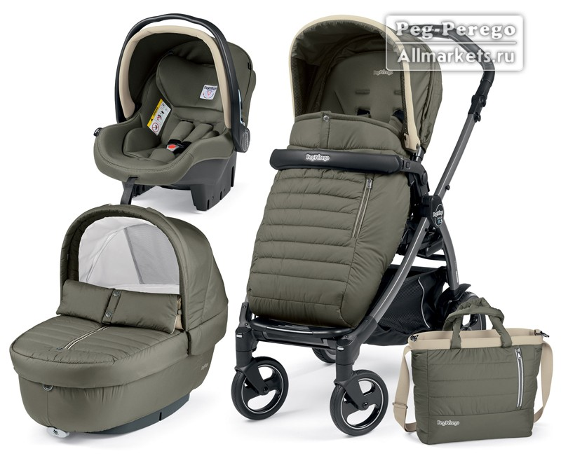 КОЛЯСКА PEG PEREGO MODULAR BOOK ELITE 3 В 1 BREEZE KAKI