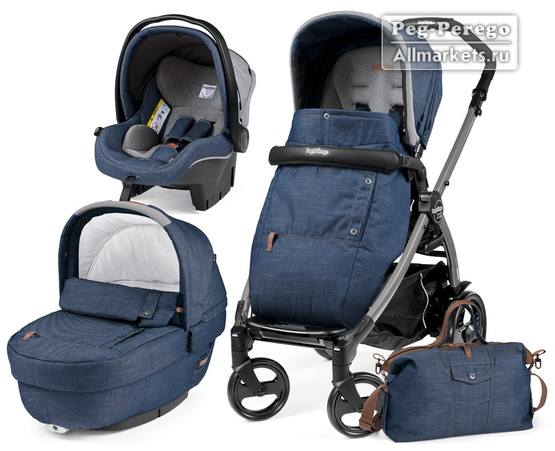 КОЛЯСКА PEG PEREGO MODULAR BOOK ELITE 3 В 1 URBAN DENIM