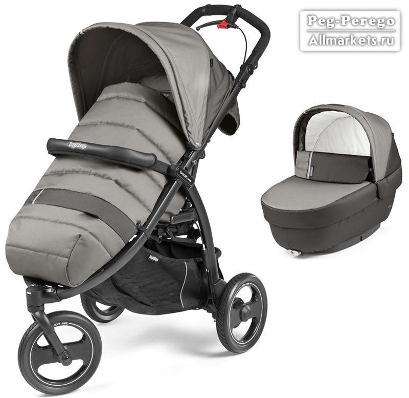 КОЛЯСКА PEG PEREGO MODULAR BOOK CROSS 2 В 1 CLASS GREY